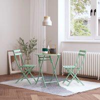 MWH 曼好家 多彩折叠桌椅 圆桌/方桌 3件套
