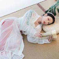 重回汉唐 HFVY2145 女士中国风直领对襟长衫