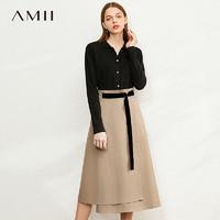 聚划算百亿补贴:AMII 1204TM0091 高腰半身裙