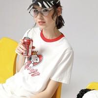 TOYOUTH 初语 史努比联名 S8020131055 女士短袖T恤