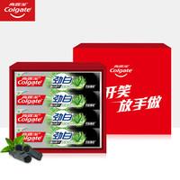 限地区:Colgate 高露洁 放开笑放手做劲白牙膏礼盒(劲白竹炭薄荷牙膏120g×4) *5件