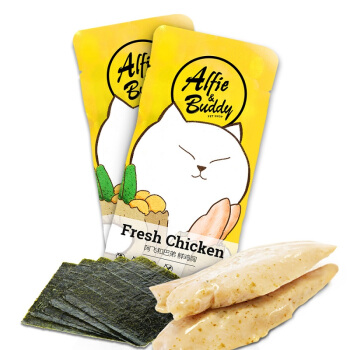 阿飞和巴弟 风味海苔鸡胸肉40g单支装 水煮鸡胸肉一包 宠物零食猫咪狗零食 猫零食 犬猫通用