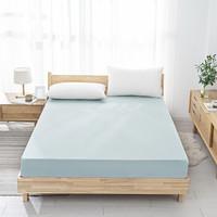 京东京造 全棉纯色床笠 纯棉床罩 床裙 床单单件150x200x33cm 松石绿