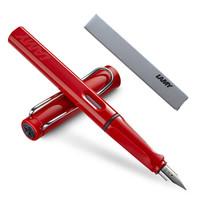 德国进口 凌美(LAMY)钢笔签字笔墨水笔Safari狩猎者商务办公礼品笔 红色F尖练字笔(德国银灰环保盒装)