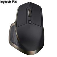 罗技(Logitech)MX MASTER 无线蓝牙鼠标 优联 黑色金边 带无线2.4G接收器