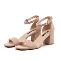 ST&SAT SS92115407 女士一字式扣带高跟凉鞋