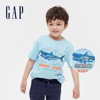 Gap 盖璞 男童纯棉短袖T恤