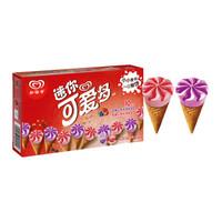 限地区:和路雪 迷你可爱多甜筒 蓝莓草莓口味 冰淇淋20g*10支 *14件