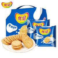 优冠 牛奶香脆饼干原味 1000g