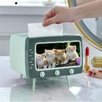 移动专享:优恋 桌面抽纸盒纸巾盒 手机支架