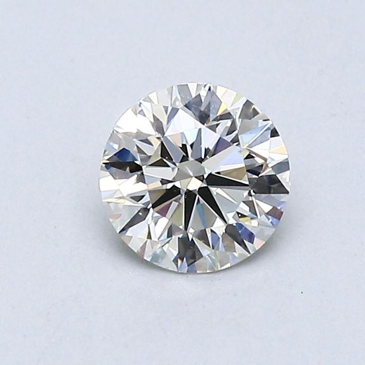 Blue Nile 0.55克拉圆形切割钻石(切工理想 成色G 净度VS1)