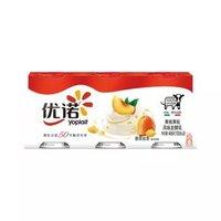 限地区、京东PLUS会员:优诺(yoplait)优丝 黄桃/草莓果粒风味发酵乳 135g*3盒 *12件