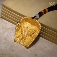 铜师傅 《鼠年五谷丰登》 全铜真金鎏镀手把件
