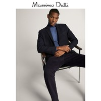 Massimo Dutti 02041260400 男装 修身版羊毛西装外套