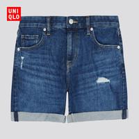 UNIQLO 优衣库 427242 中性中腰牛仔短裤