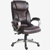 BJTJ 博泰 BT-90710H  黑棕色皮电脑椅