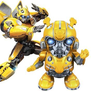 变形金刚 擎天柱大黄蜂动感声光变形汽车模型