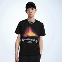 PEACEBIRD MEN 太平鸟 BWDAA2167 男士印花短袖T恤