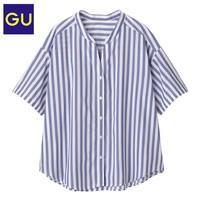 GU 极优 324118 条纹开领衬衫