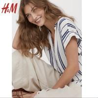 HM 0707743 女装衬衣百搭短袖女上衣