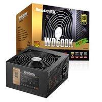 Huntkey 航嘉 额定500W WD500K 电源(80PLUS金牌/LLC+SR+DC-DC/智能温控)