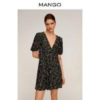 MANGO 芒果 67075952 女士V领连衣裙