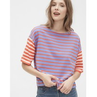 Gap 盖璞 574142 女装条纹短袖T恤