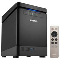 京东PLUS会员:QNAP 威联通 TS-453Bmini NAS网络存储 四盘位 J3455 4GB 无硬盘 黑色