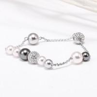 SWAROVSKI 施华洛世奇 5365739 女士珍珠磁扣水晶手链
