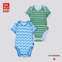 UNIQLO 优衣库 婴儿圆领连体装 2件装