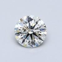Blue Nile 0.58克拉圆形切割钻石(切工理想 成色K 净度SI1)