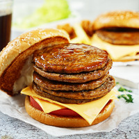 不打烊大排档:西肴纪 堡堡真爱牛肉饼 500g*2袋 (10片/袋,共20片)  *2件