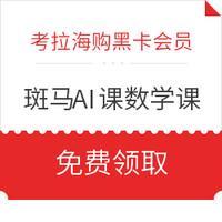 考拉海购黑卡会员:斑马AI课 数学课礼包(10节AI互动课+12件教具+14天专业辅导)