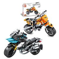 移动专享:森宝积木 科技系列  Finger 701106 +宝马水鸟 701108 摩托模型车