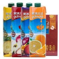 地中海塞浦路斯进口 果满乐乐(gomolo)100%果汁礼盒 大瓶装纯果汁饮料 4升 *3件