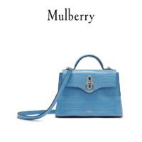 Mulberry/玛珀利天猫独家限定款seaton系列蓝灰色单肩包 HH6028