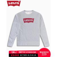 Levi's李维斯男士新款休闲圆领字母LOGO印花长袖卫衣19492-0056 灰色 S