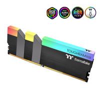 Tt RGB DDR4 4400 16GB(8Gx2)套装 台式机内存灯条 电竞/软件控制/联动主板 炫彩 3200频 8Gx2 黑色