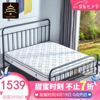 天坛家具 铁艺床1.5米双人床 单人床铁床1.8 美式LOFT工业风 黑色双床头(不含床垫) 100*200cm