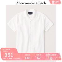 Abercrombie&Fitch男装 亚麻混纺古巴领纽扣式衬衫 305138-1 AF