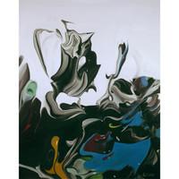 艺术品:何俊艺《什么系列2014—15》艺术版画 客厅装饰画 金色框 画框尺寸50*40cm