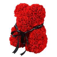 自生草 创意玫瑰抱抱熊礼盒