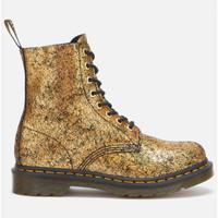 银联爆品日::Dr.Martens 1460 Pascal 金色裂纹8孔马丁靴 限尺码英码3、4码