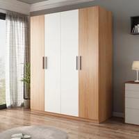 AHOME A家家具 简约现代四门衣柜 1.6m