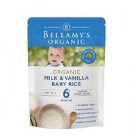 BELLAMY'S 贝拉米 有机婴儿米粉香草奶糊 125克/袋 4袋装