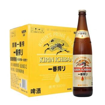 KIRIN/ 麒麟啤酒 日本风味一番榨啤酒 600ml*12瓶整箱