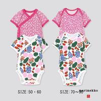 UNIQLO 优衣库 婴儿 Marimekko 圆领连体装(短袖)(2件装) 427519