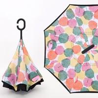 沫采 双层反向手动雨伞 多色可选