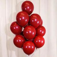 卿幽茉 婚庆马卡龙气球 宝石红圆形【5个】 无任何配件