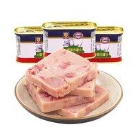 限地区:梅林 小白猪火腿猪肉罐头 198g *7件
